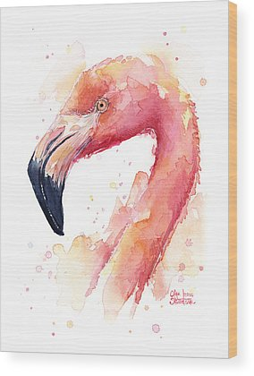 Flamingo Wood Prints