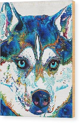 Siberian Husky Wood Prints
