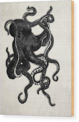 Octopus Wood Prints