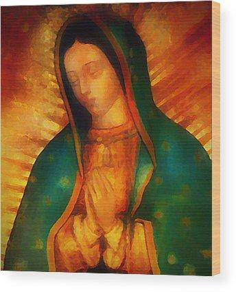 Virgin Guadalupe Wood Prints