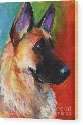 German Shepherd Wood Prints