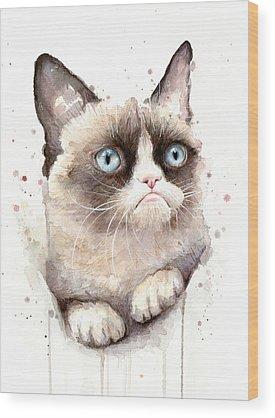 Cat Art Wood Prints