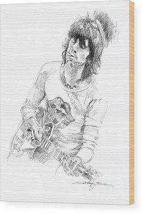 Keith Richards Wood Prints