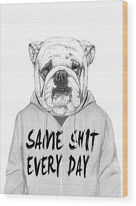 Funny Dog Wood Prints