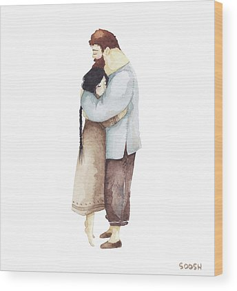 Couple Love Wood Prints
