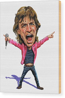 Rock N Roll Music The Rolling Stones Wood Prints