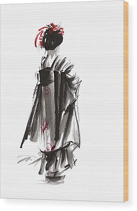 Geisha Wood Prints
