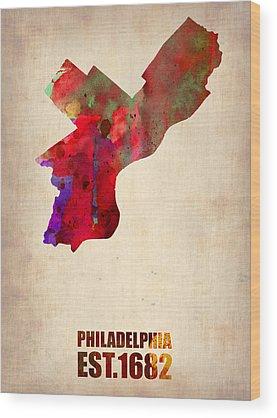 Philadelphia Wood Prints