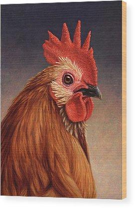 Roosters Wood Prints