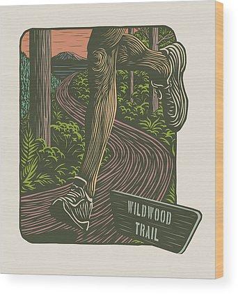 Scratchboard Wood Prints
