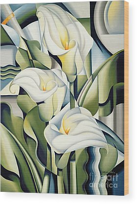 Abstract Flower Wood Prints