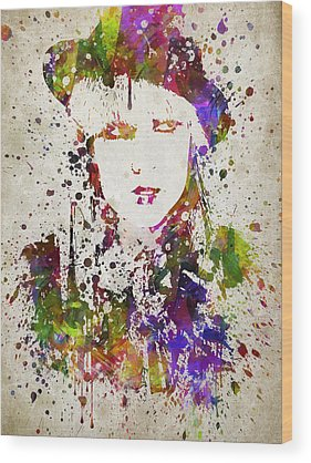 Lady Gaga Wood Prints