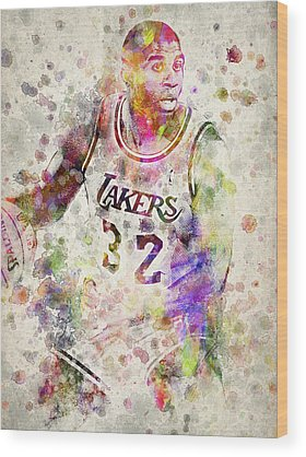 Magic Johnson Wood Prints