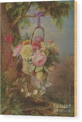 Hanging Basket Wood Prints