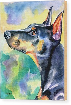 Doberman Pinscher Wood Prints