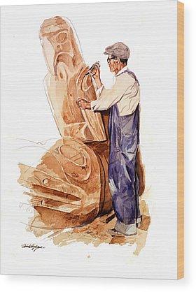 Totem Pole Wood Prints
