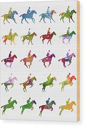 Warmblood Horse Wood Prints