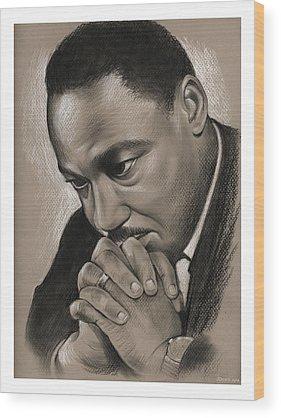 Martin Luther King Jr Wood Prints