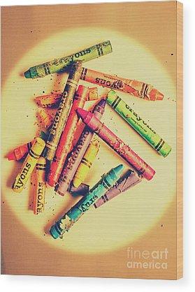 Crayons Wood Prints