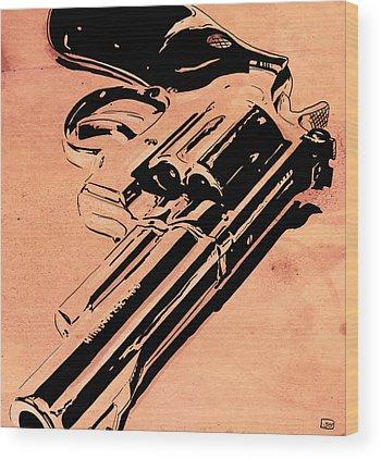Gun Wood Prints