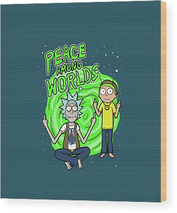Rick And Morty Wood Prints