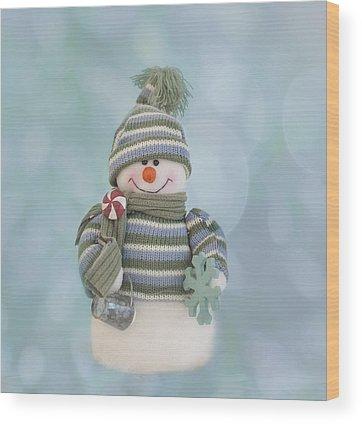 Snowman Wood Prints