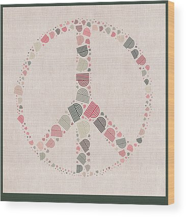 Peace And Love Wood Prints