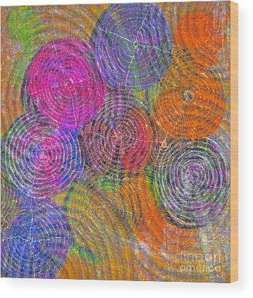 Brain Waves Mixed Media Wood Prints