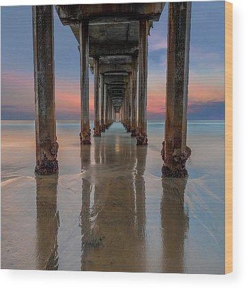 Scripps Pier Photographs Wood Prints