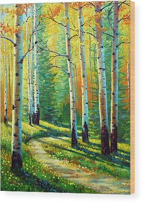 Colorado Autumn Landscapes Wood Prints