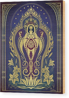 Hindu Goddess Wood Prints