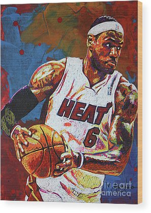 Lebron James Wood Prints