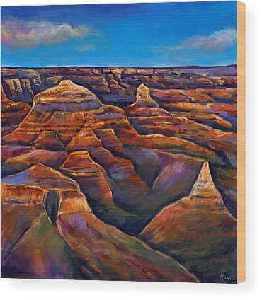 Desert Landscape Wood Prints