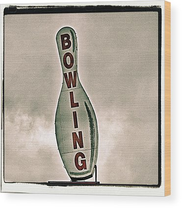 Ten Pin Bowling Wood Prints