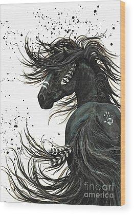 Pet Portrait Artist Wood Prints