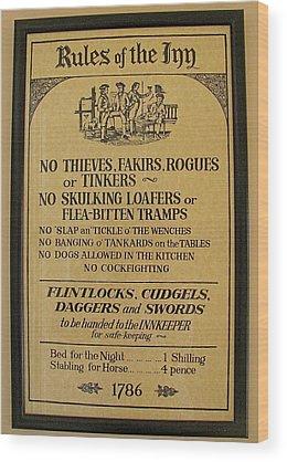 Pub Wood Prints