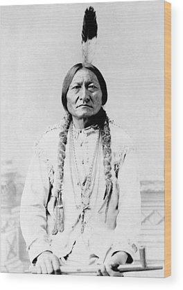 Native Americans Wood Prints