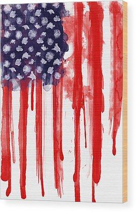 America Wood Prints