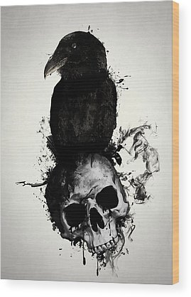 Skull Wood Prints