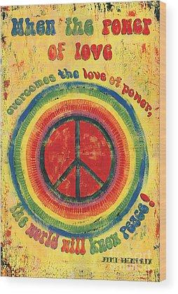 Peace Wood Prints