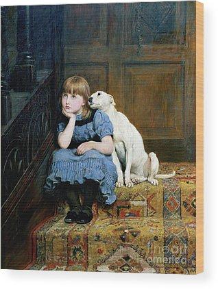 Little Girl Wood Prints