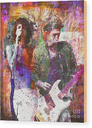 Rock N Roll Wood Prints