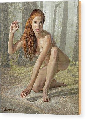 Nymphs Wood Prints