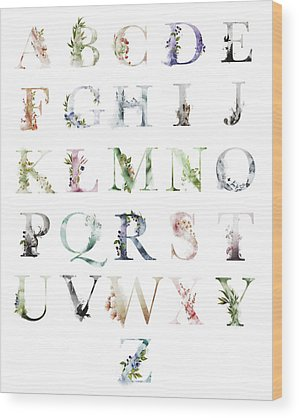 Alphabet Wood Prints