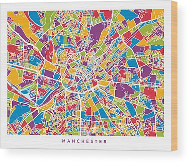 Greater Manchester Wood Prints