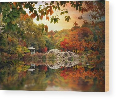 Fall Foliage New York Wood Prints