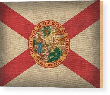 Florida State Wood Prints