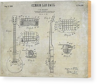 Patent Drawing Wood Prints