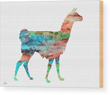 Llama Wood Prints