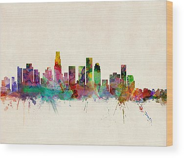 Los Angeles Skyline Wood Prints